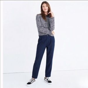 Madewell Track Trousers Blue Pinstripe size 6